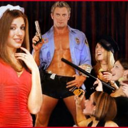 Bachelorette Party at Hunk-O-Mania